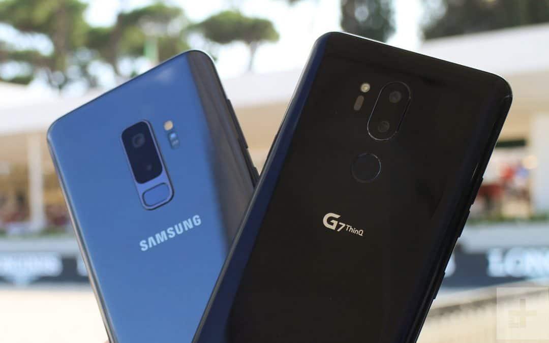 LG G7 vs Samsung S10 vs Samsung S9 vs Samsung S8